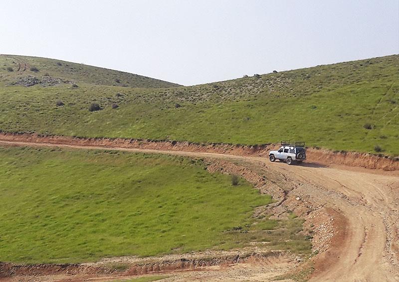باشگاه هوایی اوج - مسیر دسترسی محل تیکاف سایت شهید